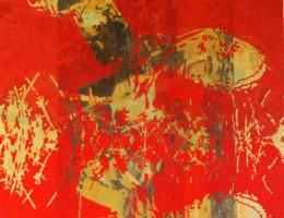Die Eule, 2013, Eitempera/Molino 140x140cm