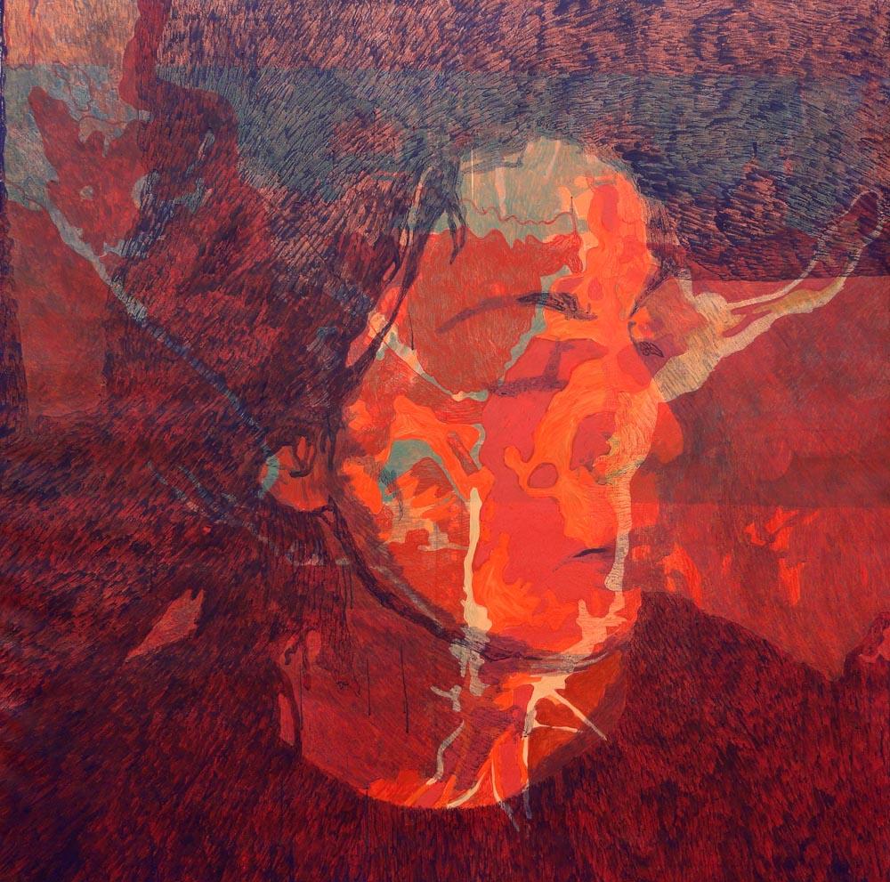 Selbstportrait in rot